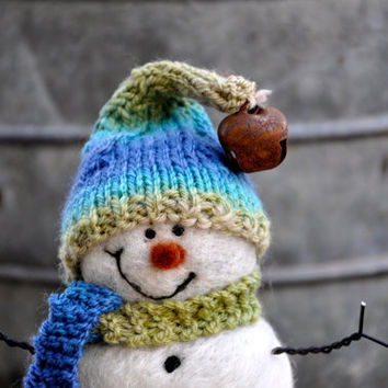 Snowman Needle Felted Snowmen 73 by BearCreekDesign on Etsy