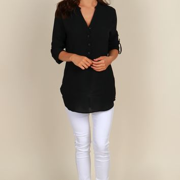 Just Relax Classic Blouse Black
