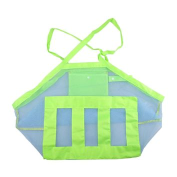 Outdoor Beach Sandy Children Baby Toy Clothes Towel Collecting Bags Shoulder Bags Large Space Mesh Bags Handbag Totes