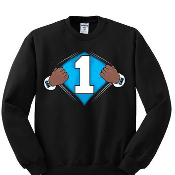 Super Cam Carolina Panthers Helmet Sweatshirt Sports Clothing