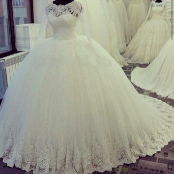 Puffy Ball Gown Wedding Dress 2016 Newest Model