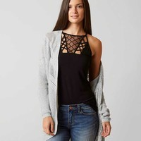 BKE OPEN FLYAWAY CARDIGAN SWEATER