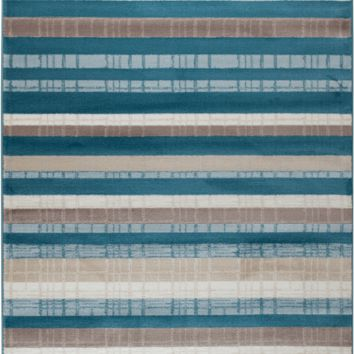2042 Turquoise Contemporary Area Rugs