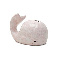 Whale Mini Piggy Bank - 5-1/2-in - Pink