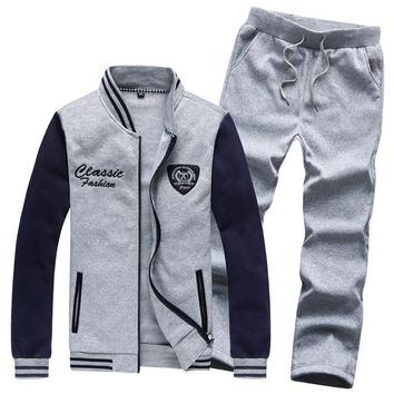 Autumn Casual Men Suit Slim Men Track Suit Fashionable Men Clothing Set