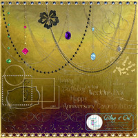 Commerical Use Clipart, Gold Clip Art, Bling Jewelry, Card Making, Scrapbook Elements, Invitations, Paper Craft Supplies - Bling It On!