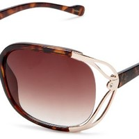 Jessica Simpson Women's J405 Oversized Sunglasses,Tortoise Frame/Gradient Brown Lens,one size - Sales Cache