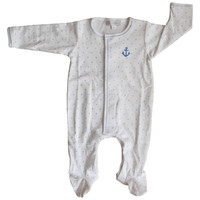 Magnolia Baby Anchors Away Light Blue Footie