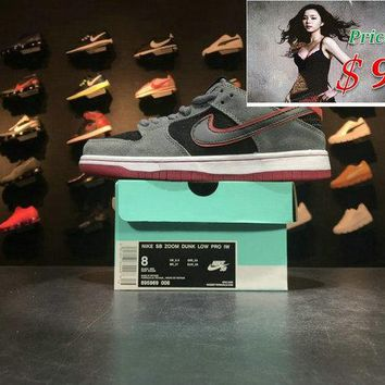 Spring Summer 2018 Cheapest Nike SB Dunk Low Pro IW M Power DARK GREY Mens Womens Casual Shoes 895969 006 shoe