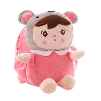 Lovely Koala Dolls Toddler Backpack Infant Villus Knapsack Cute Baby Bag 1 - 3Y