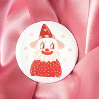 "Cute Clown -  2.25"" Button Pin Badge"