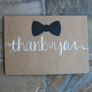 A set of 20 BowTie Thank you cards ~ Blank