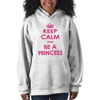 Keep Calm & Be a Princess Girls Hooded Sweatshirt from Zazzle.com