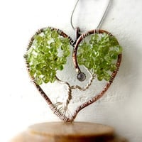 Sterling Silver And Copper Tree of Life Heart by StemDesigns