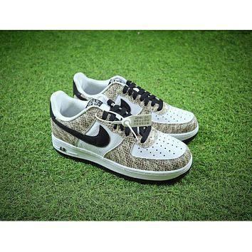 Nike Air Force 1 Low Premium Snake Cocoa 845053-104 AF1 Sport Shoes