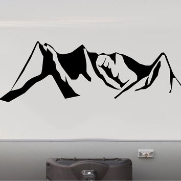 Denver Mountains Replacement RV Camper Trailer Camping Decal Sticker   Front End Cap
