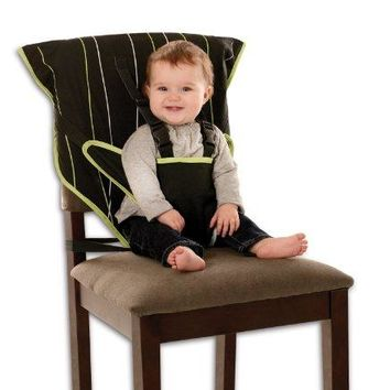 Cozy Cover Easy Seat – Portable Travel High Chair & Safety Seat | Infants & Toddlers (Black/Green)