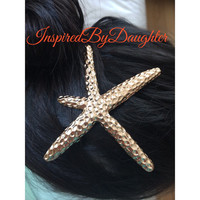 Starfish Hair Accessories Girl Women Hair Clip Barrette Wedding Hair Pin Star Hair Bridal Hair Bridesmaids Gift Flower Girl Hair Flower Hair