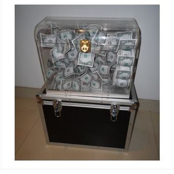 Crystal Money Chest - Magic Trick,Stage Magic Props,Close Upmagic,Mentalism,Comedy,Party Trick,Illusions,Magia Toys,Gadgets,Joke