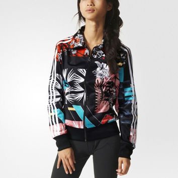 Fashion Print Adidas Letter Windbreaker Sports Gym Jogging Costume Jacket