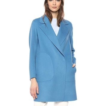 Theory Women's Single Button Long Sleeve Boy Coat