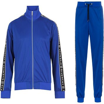 GIVENCHY 4G webbing Blue Tracksuit Jacket and Pants