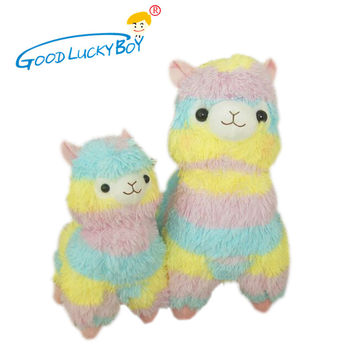 Rainbow 1* Alpaca Vicugna Pacos Plush Toy Japanese Soft Plush Alpacasso Baby Plush Stuffed Animals Alpaca Gifts 35cm and 45cm
