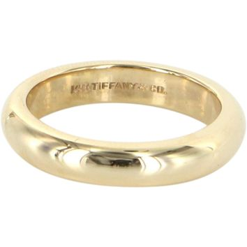 Vintage Tiffany & Co 14 Karat Gold Sz 6.25 4mm Wedding Band Ring Estate Fine Jewelry