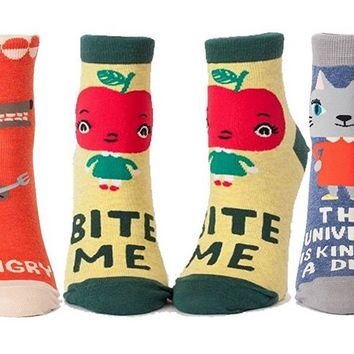 Hangry / Bite Me / The Universe is a Dick Women's Ankle Socks Gift Set - 3 Pack