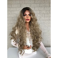 "Blonde Ombré Hair SWISS Lace Front Wig 26""  Blind in Love 319 36"