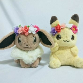 NEW Pikachu and Eevee Easter limited Stuffed toy doll plush toy doll Birthday presents for children Christmas gift Halloween