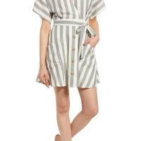 Moon River Stripe Cotton Wrap Dress | Nordstrom