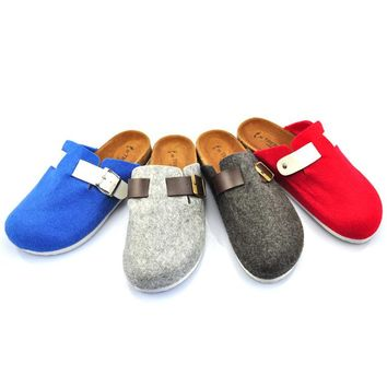 Fashion lovers Baotou lazy slippers trampoline slippers