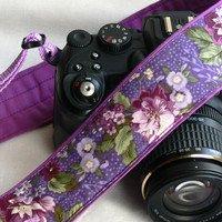 Flowers Camera Strap. dSLR Camera Strap. Women accessories