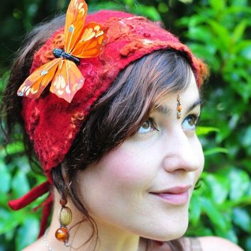 Felt Fairy Pixie Butterfly Head Band by frixiegirl on Etsy