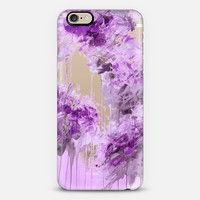 WHISPERED SONG 7 - Pastel Lilac Lavender Purple Abstract Flowers Feathers Painting Nature Wedding Bridal Bride Floral Bouquet Bridesmaid Winter Chic Transparent iPhone 6 case by Ebi Emporium | Casetify