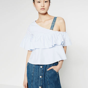 ASYMMETRIC STRIPED TOP - TOPS-TRF | ZARA United States