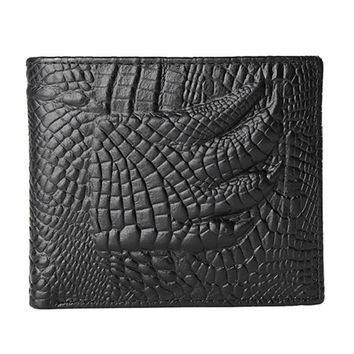 JINGBAOLAI Men Wallet Leather Simple Stly Credit ID Card Holder Billfold Purse Bifold Mens Purse carteras mujer#4M