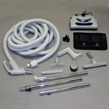 Built-In Kit, 35' Hose Gas Pump Style Central Vacuum Tool Kit - Fits most systems attachments included