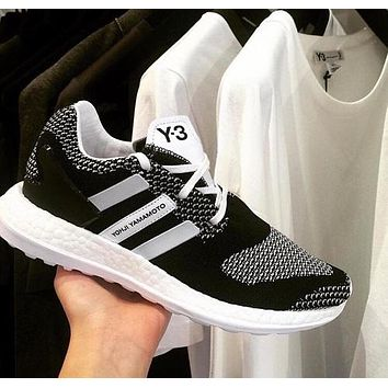 Adidas Y-3 Pure Boost Fashion Women Men Breathable Running Sneakers Sport Shoes