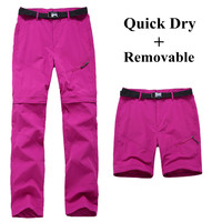 Women Quick Dry Removable Pants Spring Summer Hiking Pants Casual Sport Outdoor Trouser Female Fishing Trekking Pant RW055