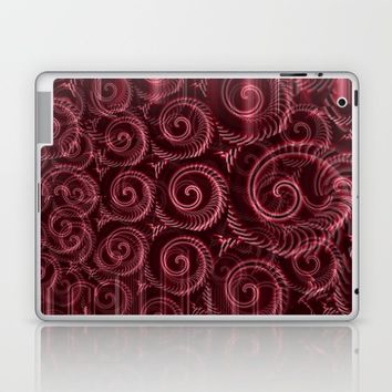 Maroon Decoration #2 Laptop & iPad Skin by Moonshine Paradise