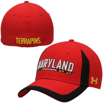 Maryland Terrapins Under Armour 2014 Sideline Touchback Performance Flex Hat – Red