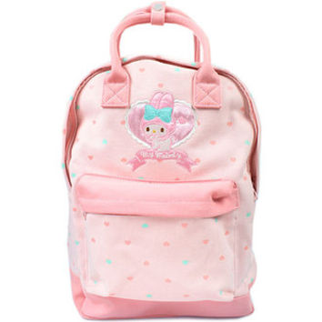 My melody canvas 2Way rucksack pink ☆ Sanrio fashion bag & bag accessory series ★ black cat DM service impossibility