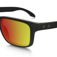 Oakley Holbrook Polarized in MATTE BLACK / RUBY IRIDIUM POLARIZED | Oakley