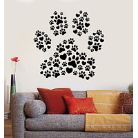 Vinyl Wall Decal Footprints Paws Love Pets Animal Shop Stickers Mural (g424)