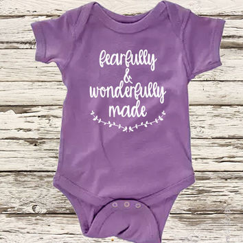 Fearfully and Wonderfully Made Infant Bodysuit