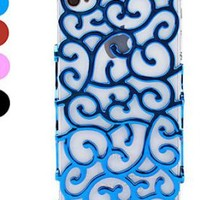 Flower Rattan Skin Case for iPhone 4 4S