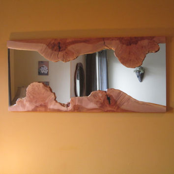 Live Edge Burl Mirror - Maple- Large Wall Mirror - Unique Mirror - Natural Edge - Artistic