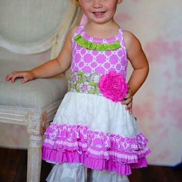 Giggle Moon Lilly of Valley Tutu Dress w/ Ruffled Capri Pants
